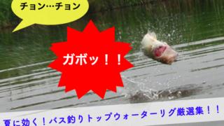 ガボッっと出る!夏に効くバス釣りトップウォーターのオススメ厳選集!